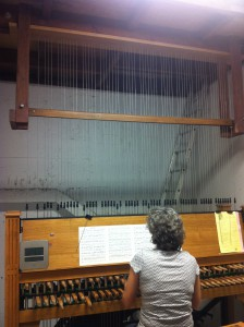 University of Florida music professor Laura Ellis plays the Century Tower carillon bells.