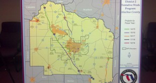 The FDOT mapped out five years of work in numerous counties, including Alachua County, pictured above.