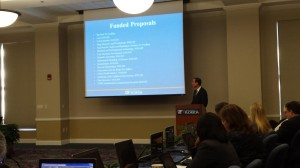 University of Florida Provost Joe Glover discusses fund proposals at Friday's Board of Trustees meeting. By the end of the year, the university must decide how to allocate $5 million to $8 million in funds.