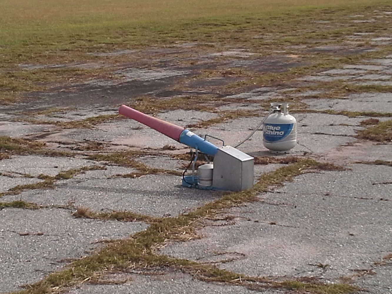 The Gainesville Regional Airport has air cannons that will fire off every 20 minutes to keep vultures away. They will move the cannons around the runway throughout the day as needed.