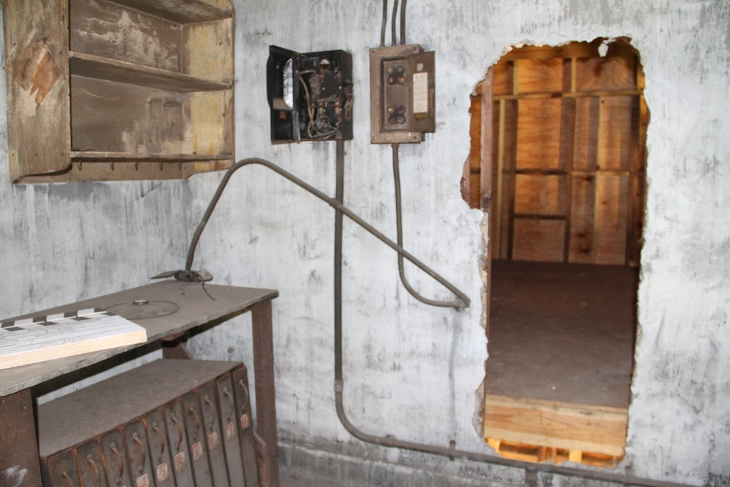 The film room located on the second floor of the Cotton Club building remains in its original state through the renovation project.
