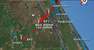Tornado Path Palm Coast