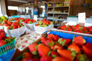 Strawberries at Norman's Farm's vegetable stand on Monday in Starke, Fla.