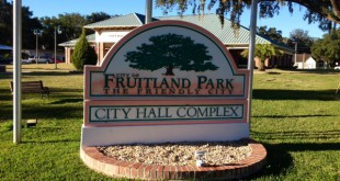 Outside of Fruitland Park City Hall where a meeting was held to vote on commissioners pensions.