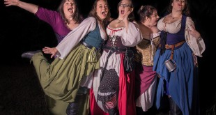 Tira McSu, Ginger Snap, Cherri Tart, Cupcake and Molly Licalolly of Just Desserts on January 10. The comedic singing group, which performs at the Hoggetowne Medieval Faire, recently finished recording their first album.