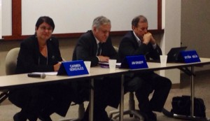 Panelist and Professor Carmen Gonzalez argues for policies to protect local farmers