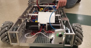 The Imagine 5 robot is within a week of being packed up and ready to go to competition in March.