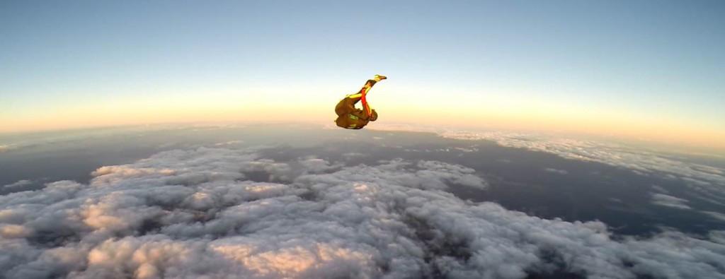 Raquel Rizkalla, 19, jumps out of a plane at Skydive Palatka.