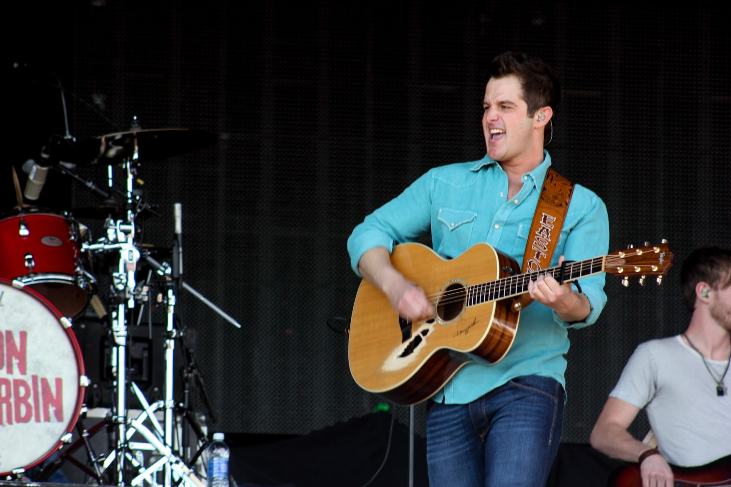 Country recording artist Easton Corbin performs at the Florida Strawberry Festival on Sunday afternoon, Mar. 9, 2014.