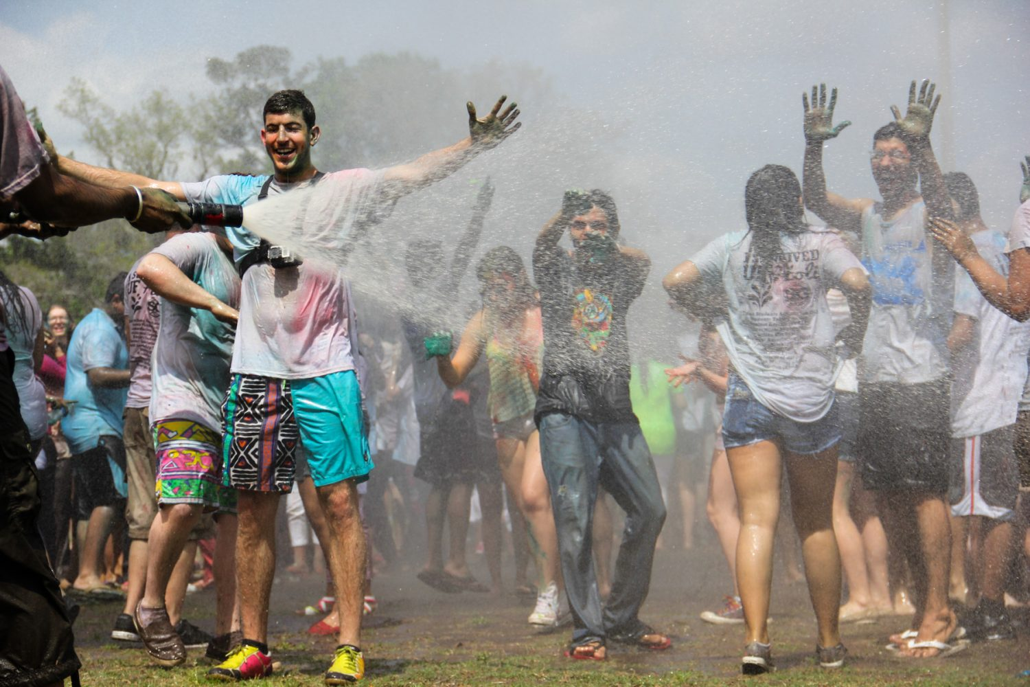 After the festival, those in attendance were hosed down at Flavet field on the University of Florida campus.