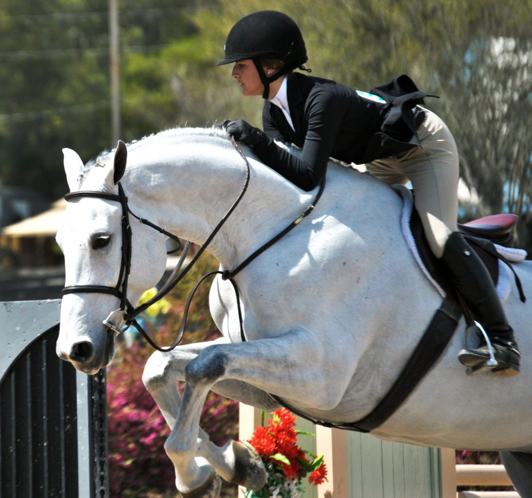 Kiana Fiore of Annapolis, Md. shows her horse Zivago during the second round of the Children's Hunter 14 & Under competition Sunday, placing third.