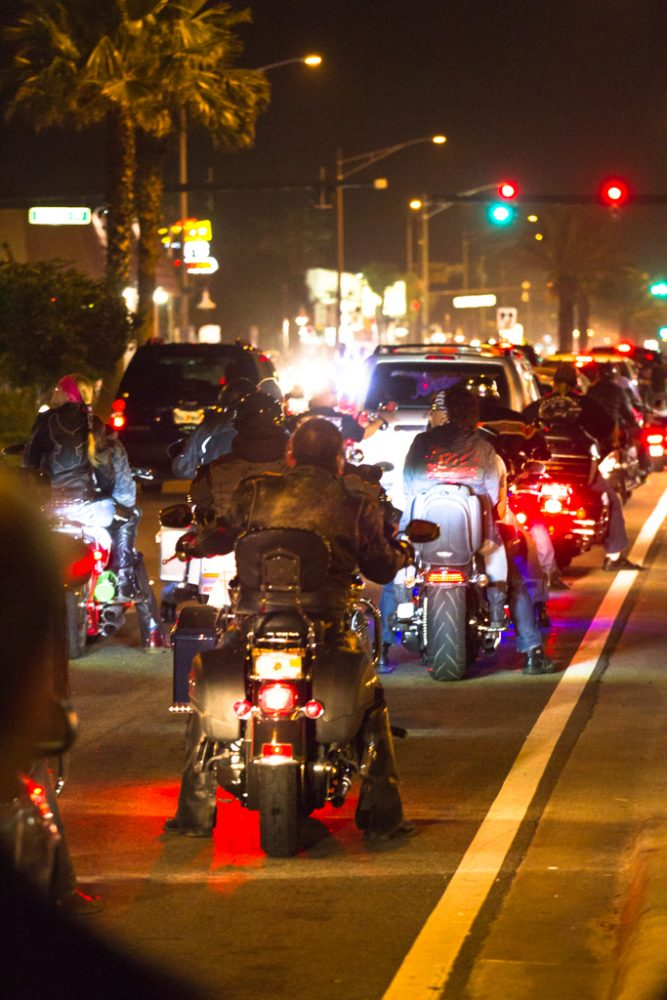 Motorcycles fill the streets during the 73rd annual Bike Week in Daytona Beach on Friday, March 14.