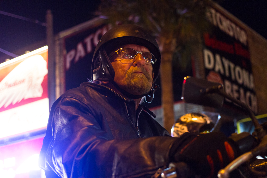 Rich Smith, of New York, rides his motorcycle during the 73rd annual Bike Week in Daytona Beach on Friday, March 14.