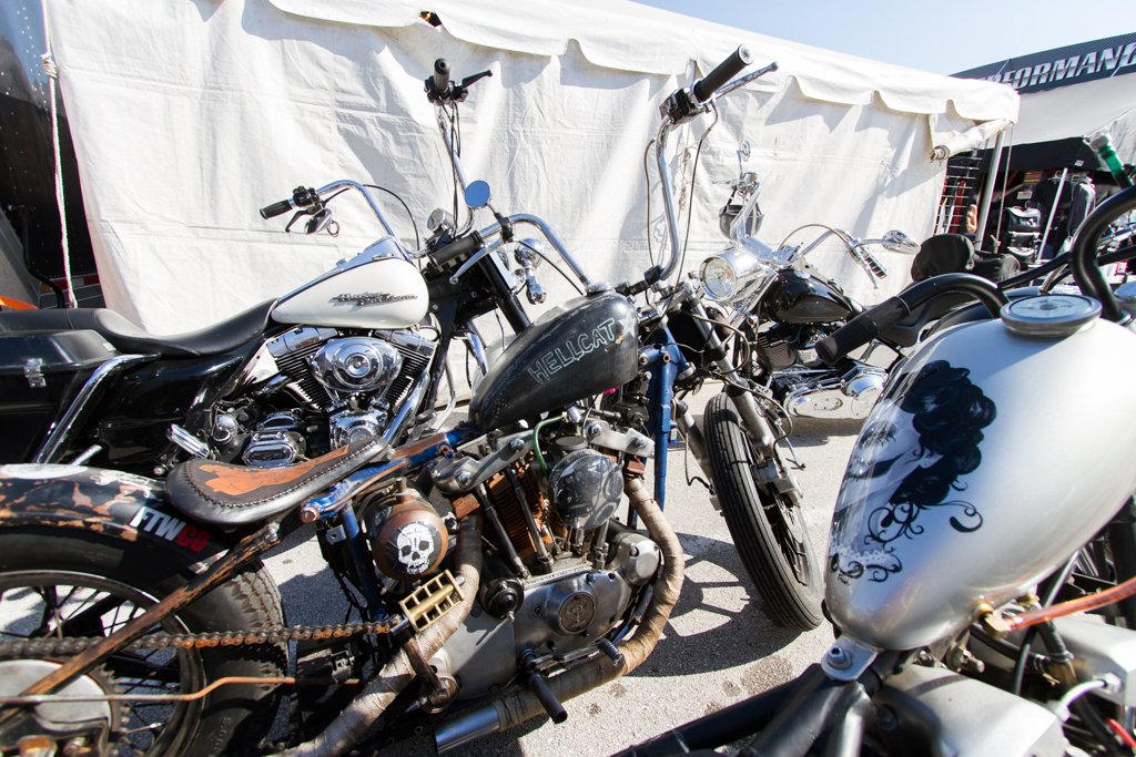 Motorcycles sit parked at Bruce Rossmeyer's Destination Daytona during the 73rd annual Bike Week on Saturday, March 15.