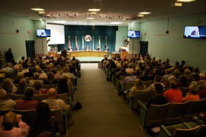 More than 250 people were in attendance at April 1 meeting where dog tethering was addressed.