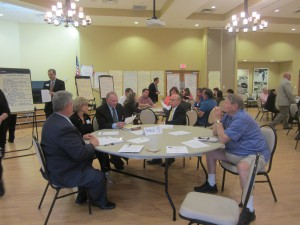 Business owners from across Alachua County discuss the Economic Development Advisory Committee's strategic plan.