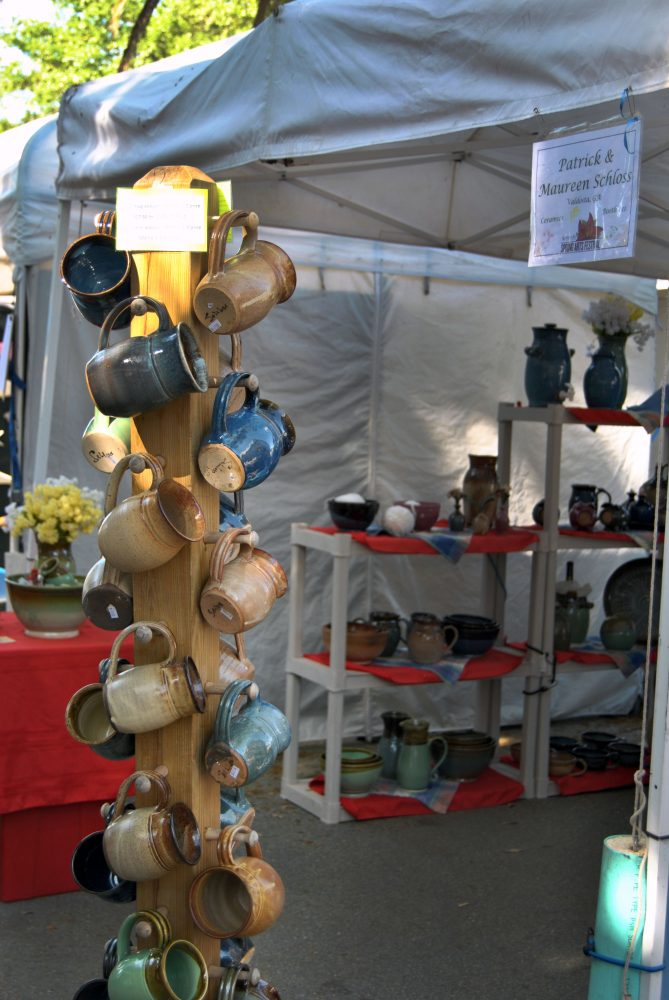 Patrick and Maureen Schloss traveled from Valdosta, Ga., to demonstrate their ceramic work at the Santa Fe College Springs Arts Festival.