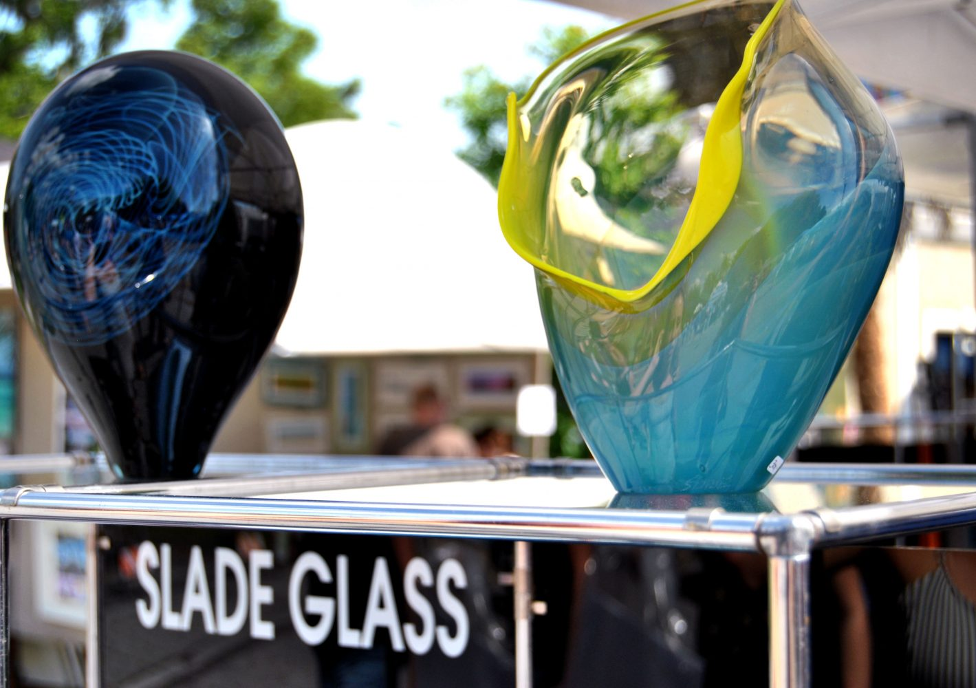 Bill and Jon Slade of Jacksonville presented Slade Glass at the Santa Fe College Springs Arts Festival.