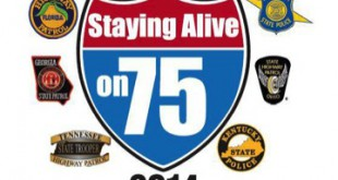 "Visual for the ""Staying Alive on I-75"" campaign"