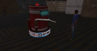 Robot and avatar in SecondLife
