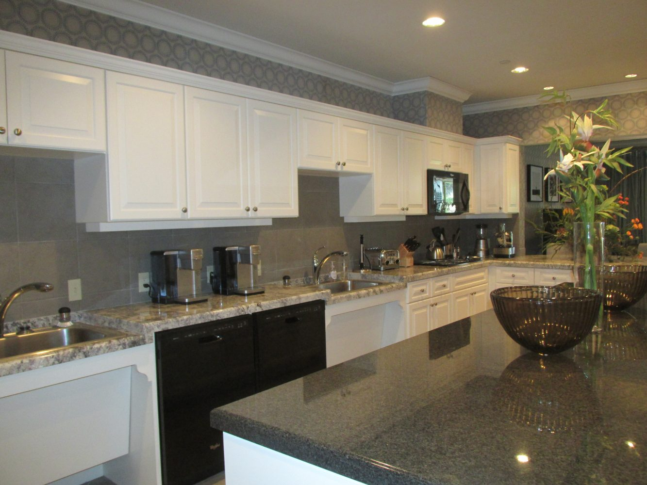 State-of-the-art  community kitchen the families will share.