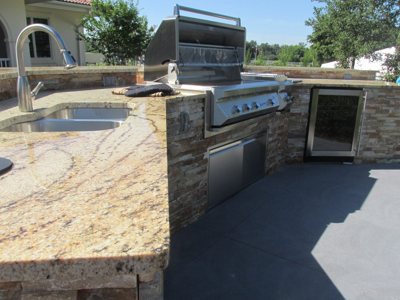 Families can use this outdoor kitchen to host summer cook outs and celebrations. This is the first Fisher House to come equipped with an outdoor grilling patio.