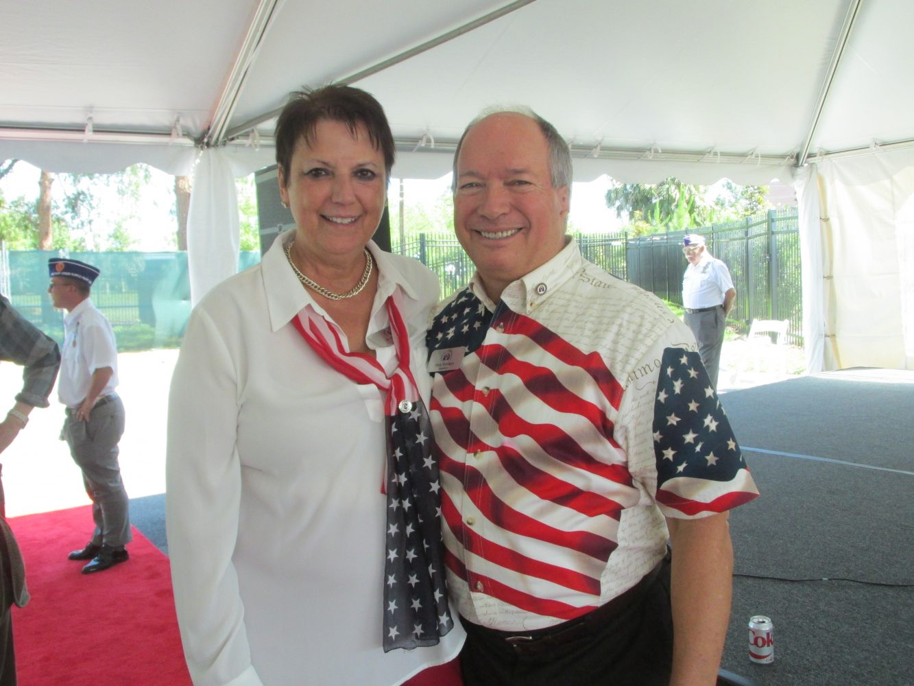 Rick and Patti Fabiani, President and Executive Director of the Gainesville Fisher House Foundation