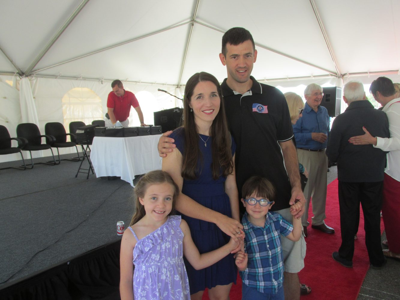 Jonathan Pruden and Family. Jonathan is a veteran his family stayed at a Fisher House when was receiving treatment. He is one of the first to suggest a Fisher House in Gainesville.