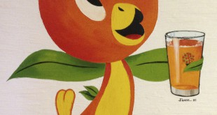 The Orange Bird is a cartoon character mascot created in 1970 by Disney for the Florida Citrus Commission.   A likeness of the famous icon now hangs in the hallway of Florida Citrus Mutual CEO Mike Sparks.