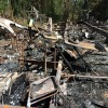 The charred remains of a Levy County home are all that remain following a fire that killed two people early Wednesday morning, August 20,