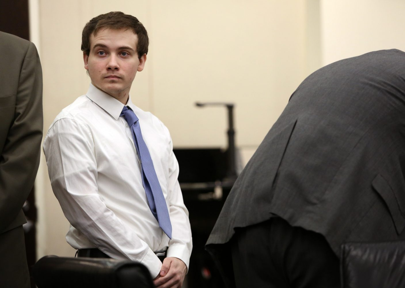 Defendant Pedro Bravo attends jury selection in courtroom 1B of the Alachua County Criminal Justice Center Monday, August 4, 2014.  Bravo is on trial for the murder of University of Florida student Christian Aguilar.  (Doug Finger/The Gainesville Sun/Pool)