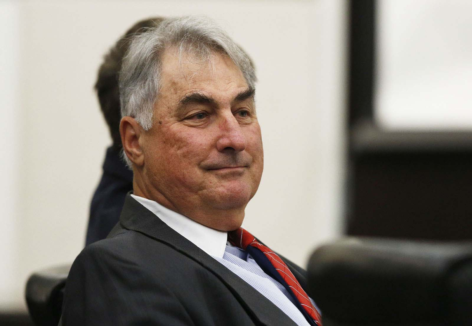 Defense attorney Stephen Berntstein following his cross examination of Levy County inmate Michael Angelo during Pedro Bravo's murder trial in courtroom 1B of the Alachua County Criminal Justice Center Wednesday, August 13, 2014.  Bravo is accused of killing University of Florida student Christian Aguilar.  (Doug Finger/The Gainesville Sun/Pool)