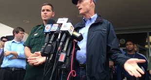 Gov. Rick Scott spoke in response to the Bell shootings on Friday. He said his prayers are with the family members and the community.