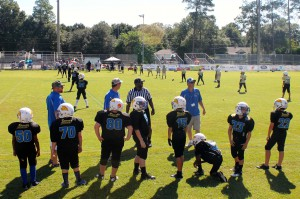 A 10 and Under Boys and Girls Club league football game begins Saturday morning. The Panthers played the Irish at Newberry High School.