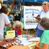Gainesville's Labor Daze Fest attracted attendees for music and political conversation. Jon Uman, candidate for State H