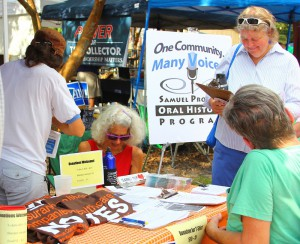 Gainesville's Labor Daze Fest attracted attendees for music and political conversation. Jon Uman, candidate for State House 21, was also in attendance.