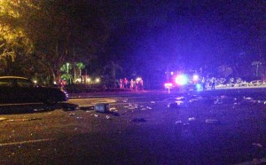 A woman in her 40s was killed on SW 34th Street on Wednesday at 7:20 p.m. At least two other vehicles were involved.