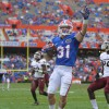 Florida receiver Michael McNeely scores a TD late in the fourth quarters after catching a 28-yard pass from Driskel.
