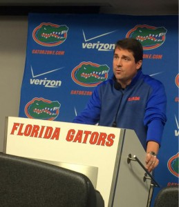Florida Head Coach Will Muschamp speaks at a press conference Monday afternoon regarding his dismissal.