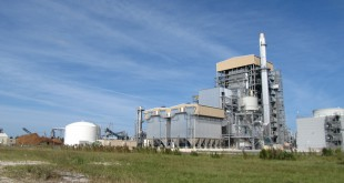 The Gainesville Renewable Energy Center, a biomass facility that uses waste wood to produce energy. (Courtesy of John Brushwood/GREC)
