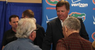 McElwain introduced himself to reporters and answered questions Saturday.