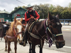 Mishler rides Chief Free Spirit, and Cherry follows behind. Cherry, 7, is Chief Free Spirit's daughter. Chloe Stradinger/ WUFT