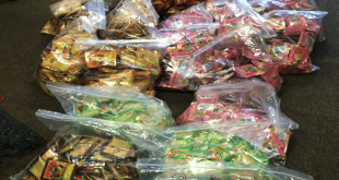 Gainesville Police Department picked up multiple bags of synthetic drugs from locations in the city selling the illegal substances. The new ordinance will target the drugs with compounds not covered by law, as well as misleading packaging. Photo courtesy of Gainesville Police Department Records