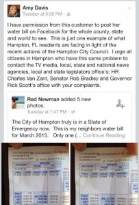 An example Davis posted on Facebook showing a resident who was billed for about $10,800.