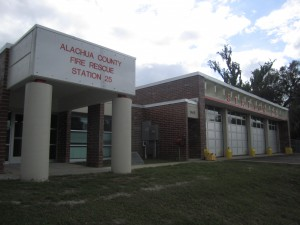 The new location of Alachua County Fire Station #25 is now in a community in hopes that they can respond to calls quicker. The Hawthorne station is three miles west of its old location, said Bill Northcutt, Alachua County fire rescue chief.