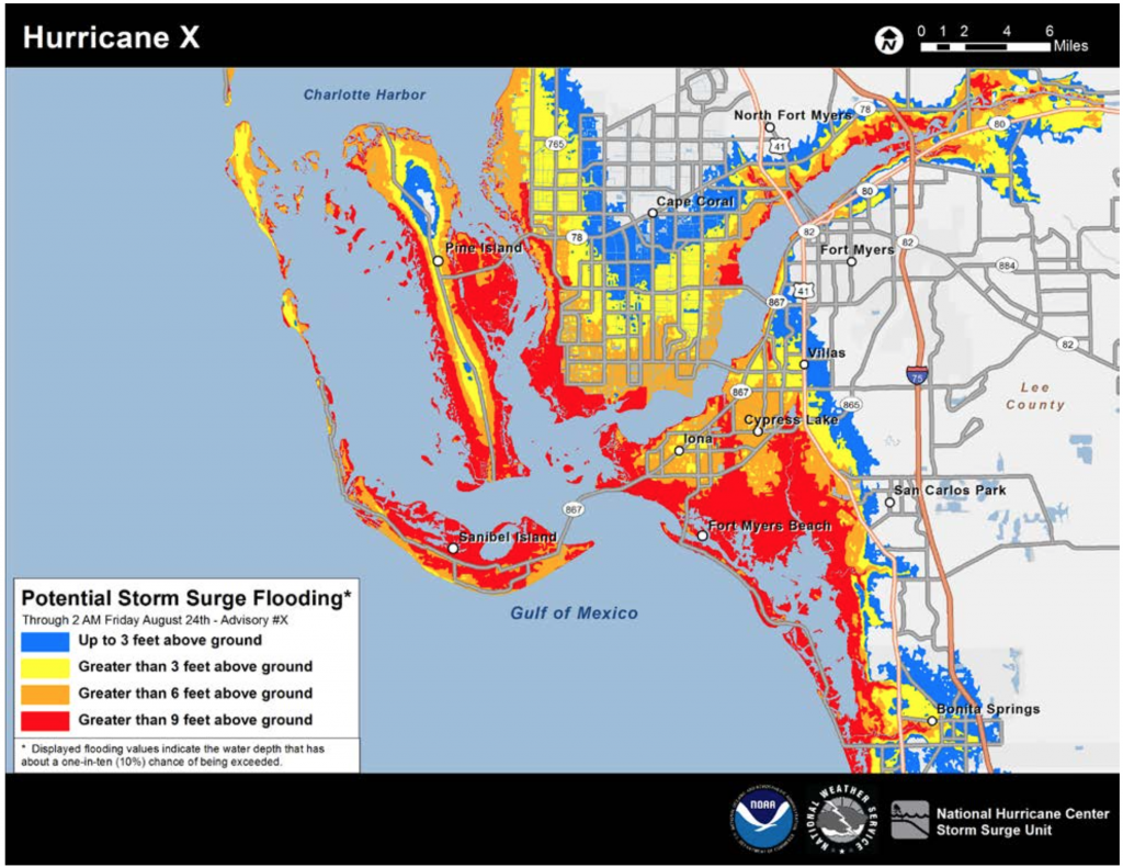 A new map shows the  potential storm surge flooding in Southwest Florida. This style of maps are to show greater detail for areas of risk.