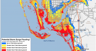 This is a new map displaying potential storm surge flooding in Southwest Florida. This style of maps are to show greater detail for areas of risk.