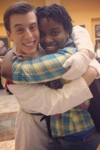 "Thomas Sanders and Tunisia Jenkins after the Gainesville Community Playhouse production of ""Into The Woods"" in Gainesville, Florida in 2014."