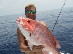 John King, recreational fisherman from Dunnellon, Fla., shows off a red snapper caught during the 2013 season. King said recreational fishermen should have longer than 10 days to catch red snapper this year.