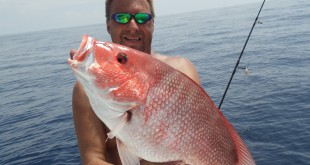 John King, recreational fisherman from Dunnellon, Fla., shows off a red snapper caught during the 2013 season. King said recreational fishermen should have longer than 10 days to catch and keep red snapper this year.